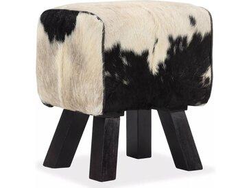Tabouret Cuir véritable de chèvre 40 x 30 x 45 cm - vidaXL