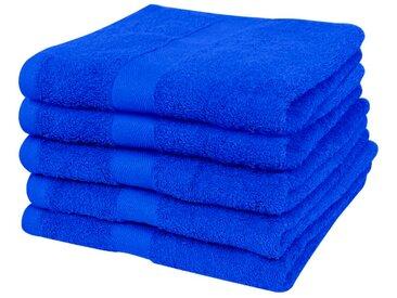 Petite serviette 5 pcs Coton 500 gsm 50 x 100 cm Bleu royal  - vidaXL