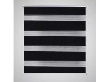 Store enrouleur tamisant 90 x 150 cm noir - vidaXL