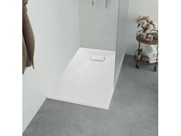 Bac de douche SMC Blanc 100 x 80 cm - vidaXL