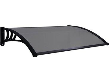 Auvent de porte Noir 150x80 cm PC - vidaXL
