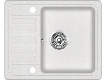 Évier de cuisine Granit Blanc - vidaXL