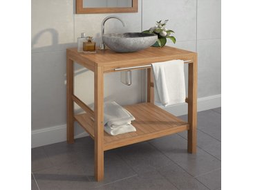 Meuble-lavabo de salle de bains Teck massif 74x45x75 cm - vidaXL