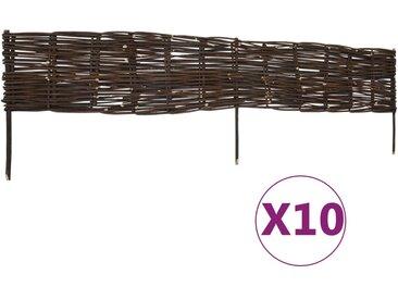 Panneaux de limite de jardin Saule 10 pcs 120x35 cm - vidaXL