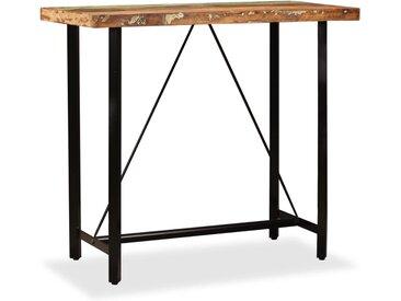Table de bar Bois massif de récupération 120 x 60 x 107 cm - vidaXL