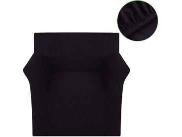 Housse extensible de canapé Marron Tissu en polyester nervuré  - vidaXL