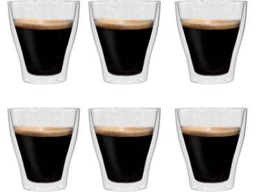 Verres à latte macchiato double paroi 6 pcs 280 ml - vidaXL