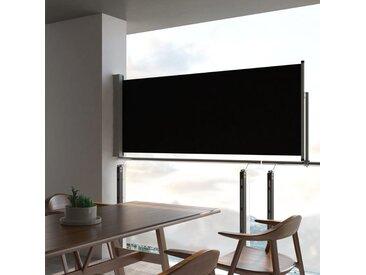 Auvent latéral rétractable de patio 100 x 300 cm Noir - vidaXL