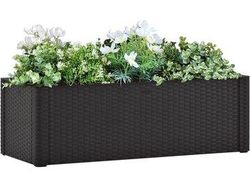 Lit surélevé de jardin système arrosage Anthracite 100x43x33 cm - vidaXL