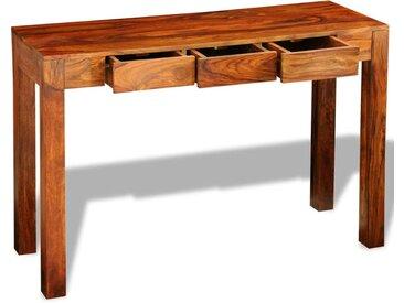 Table console avec 3 tiroirs 80 cm Bois  - vidaXL