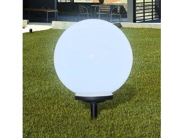 Boule solaire extérieure de jardin 40cm 1 pc avec piquet de sol - vidaXL