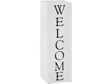 Porte-parapluie Welcome Acier Blanc   - vidaXL