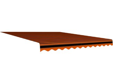Toile d'auvent Orange et marron 350x250 cm - vidaXL