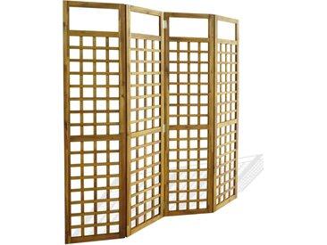 Cloison de séparation à 4 panneaux Bois d'acacia 160 x 170 cm - vidaXL