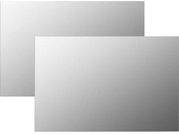 Miroirs muraux 2 pcs 60x40 cm Rectangulaire Verre - vidaXL