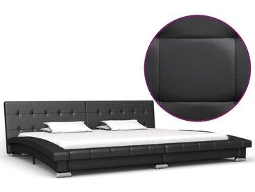 Cadre de lit Noir Similicuir 200 x 180 cm - vidaXL