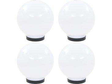 Lampes à LED sous forme de boule 4 pcs Sphérique 20 cm PMMA  - vidaXL