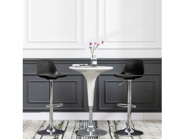Chaises de bar 2 pcs Noir Similicuir - vidaXL