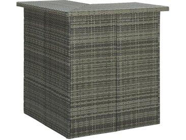 Table d'angle de bar Gris 100x50x105 cm Résine tressée - vidaXL