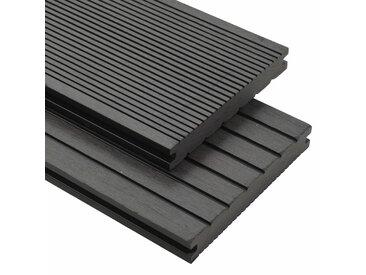 Panneaux de terrasse solides et accessoires WPC 26m² 2,2 m Gris - vidaXL
