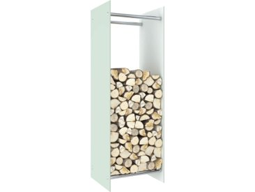 Portant de bois de chauffage Blanc 40x35x120 cm Verre - vidaXL