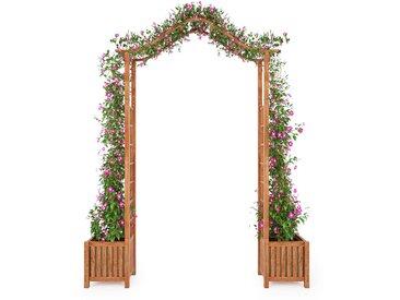 Arche de jardin avec jadinière Bois d'acacia massif 180x40x218cm - vidaXL
