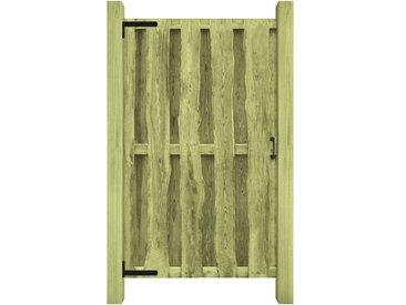 Portillon Bois de pin imprégné FSC 100 x 170 cm Vert - vidaXL