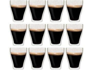 Verres à latte macchiato double paroi 12 pcs 370 ml - vidaXL