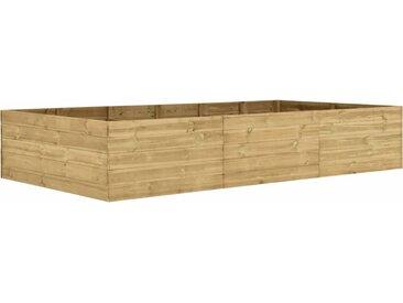 Lit surélevé de jardin 300x150x54 cm Bois de pin imprégné  - vidaXL