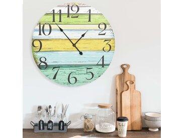Horloge murale Multicolore 60 cm MDF - vidaXL