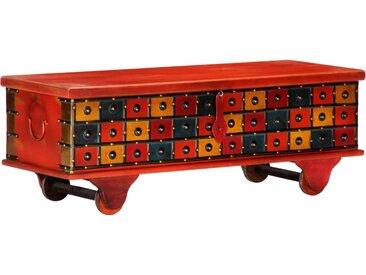 Boîte de rangement Rouge 110x40x40 cm Bois d'acacia massif - vidaXL