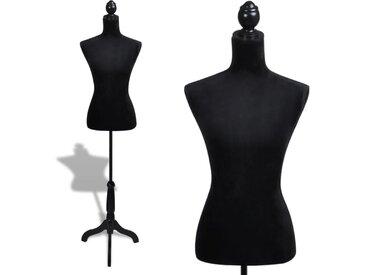 Buste de couture Mannequin de Femme Noir - vidaXL