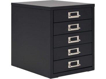 Classeur à 5 tiroirs Métal 28 x 35 x 35 cm Noir - vidaXL