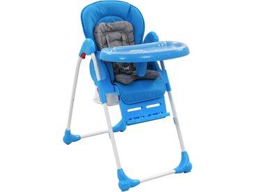 Chaise haute pour bébé Bleu et gris  - vidaXL