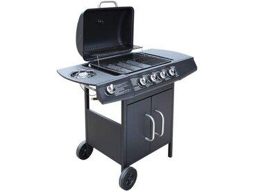 Barbecue à gaz  4 + 1 zone de cuisson Noir  - vidaXL