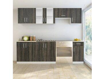 Jeu d'armoire de cuisine 7 pcs Wengé  - vidaXL