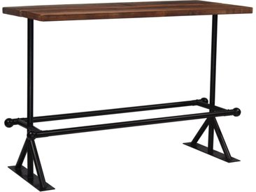 Table de bar Bois massif de récupération Marron 150x70x107 cm  - vidaXL