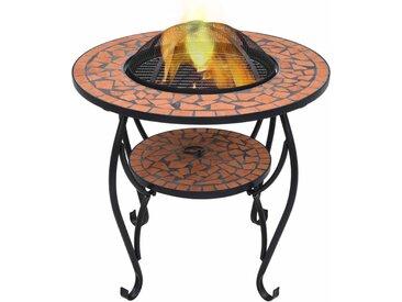 Table de foyer mosaïque Terre cuite 68 cm Céramique - vidaXL