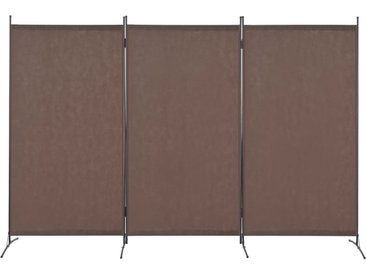 Cloison de séparation 3 panneaux Marron 260 x 180 cm - vidaXL