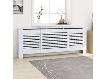 Cache-radiateur  MDF Blanc 205 cm - vidaXL