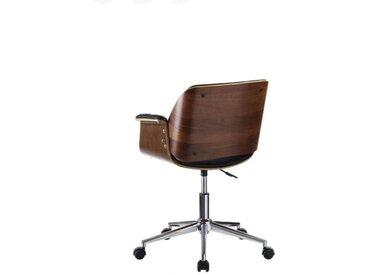 Chaise de bureau Simili Cuir Noir - CONCORDE - L 59 x l 57 x H 80 - vidaXL