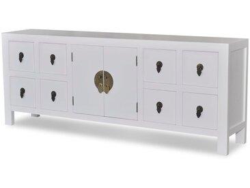 Buffet avec 8 tiroirs et 2 portes Style asiatique Bois  - vidaXL