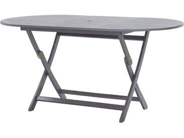 Table pliable de jardin 160 x 85 x 75 cm Bois d'acacia massif - vidaXL