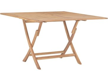 Table pliable de jardin 120x120x75 cm Bois de teck solide - vidaXL