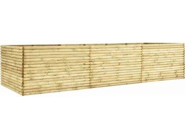 Lit surélevé de jardin 450x100x96 cm Bois de pin imprégné 19 mm - vidaXL