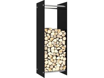Portant de bois de chauffage Noir 40x35x120 cm Verre - vidaXL