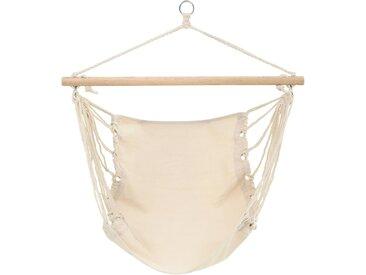Hamac chaise 100 x 80 cm beige - vidaXL
