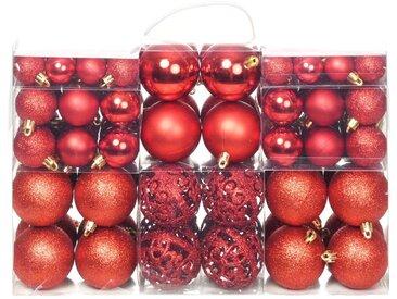 Ensemble de boules de Noël 100 pcs 6 cm Rouge - vidaXL