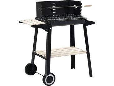 Barbecue au charbon de bois avec roulettes - vidaXL