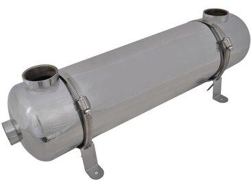 Échangeur de chaleur pour piscine 613 x 134 mm 75 kW - vidaXL